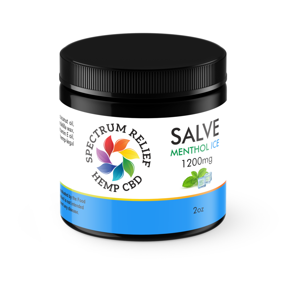CBD Menthol Ice Salve - 1200mg UNREFINED | Spectrum Relief
